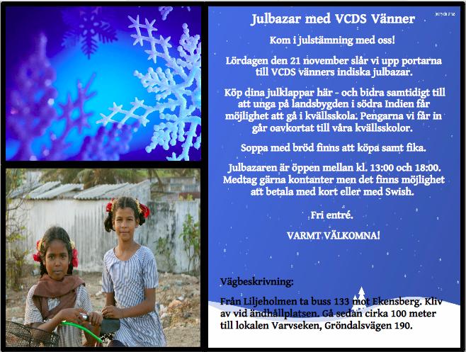 Inbjudan julbazar 2015